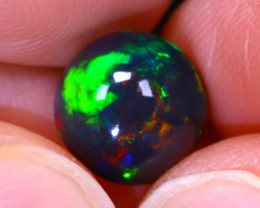 Welo Opal 2.30Ct Natural Smoked Ethiopian Play of Color Opal G0609/A3