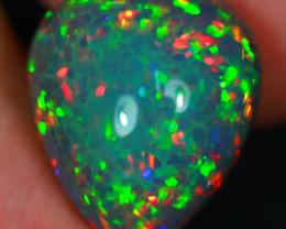 21.54CT DarkBase Hexagon HoneyComb Fish Scale Natural Ethiopian Opal S2-13