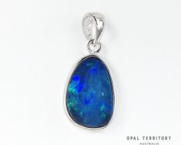 100% Australian Opal Doublet Pendant with Sterling Silver by OPAL TERRITORY