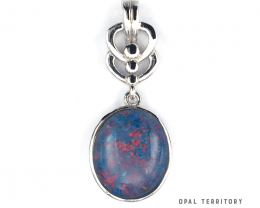100% Australian Opal Triplet Pendant with Sterling Silver by OPAL TERRITORY