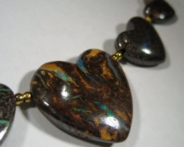YowahOpals*57.50ct  NATURAL BEAUTIFUL OPALS BEAD NECKLACE