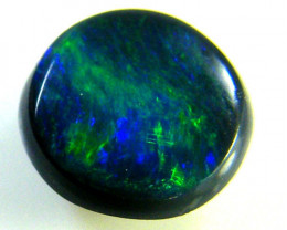 BLACK OPAL IDEAL RING STONE GREEN HUES . .50  CTS   QO 2348