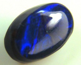 BLACK OPAL IDEAL RING STONE BLUE  HUES .  65 CTS   QO 2384