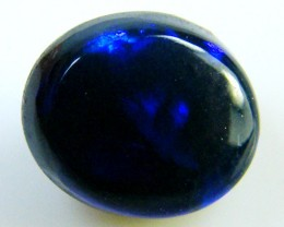 BLACK OPAL IDEAL RING STONE BLUE  HUES . .95  CTS   QO 2385