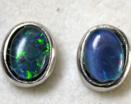 GREEN FLASH TRIPLET EARRINGS 2.50 CTS SCA1013