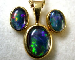 Opal Earring & Pendant Sets