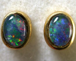 GREEN FLASH TRIPLET EARRINGS 1.80 CTS SCA1034