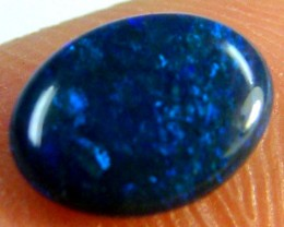 BLACK OPAL IDEAL RING STONE GREEN HUES   .75 CTS   QO 2442