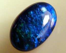 BLACK OPAL IDEAL RING STONE GREEN HUES   .30 CTS   QO 2451