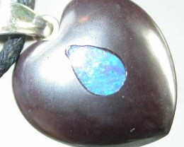 HEART SHAPED BOULDER PENDANT 20  CTS  [BMA 48]   ]