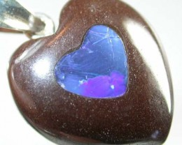 HEART SHAPED BOULDER PENDANT 26  CTS  [BMA 52]   ]