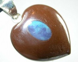 HEART SHAPED BOULDER PENDANT 23  CTS  [BMA 61]   ]