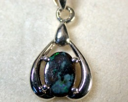 GREEN FLASH BOULDER OPAL PENDANT 1 CTS SCA1177