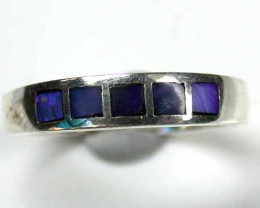 INLAY OPAL SILVER RING SIZE 7.5  L700 ML