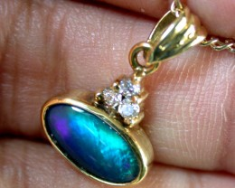 ROLLING FLASH BLACK OPAL 18K GOLD PENDANT 1.30 CTS SCA1363
