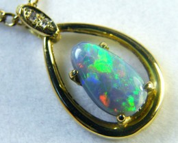 SUNSET FLASH BLACK OPAL 18K GOLD PENDANT 1.90 CTS SCA1385