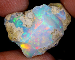 11cts Natural Ethiopian Welo Rough Opal / WR9153