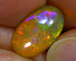 Welo Opal 3.06Ct Natural Cabochon Ethiopian Play of Color Opal G0808/A29