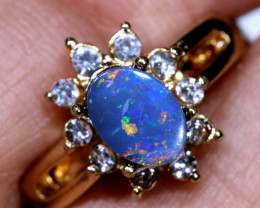 13.55CTS   DOUBLET OPAL RING OF-3019   OPALSFOREVER