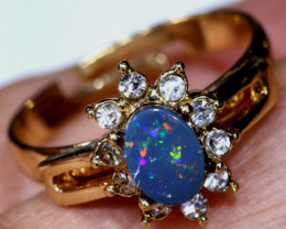 13.60 CTS   DOUBLET OPAL RING OF-3020   OPALSFOREVER