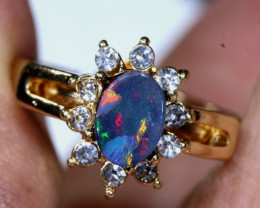 13.65 CTS   DOUBLET OPAL RING OF-3021   OPALSFOREVER