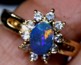 13.65CTS   DOUBLET OPAL RING OF-3023  OPALSFOREVER