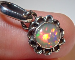 8.3ct Natural Ethiopian Welo Opal .925 Sterling Silver