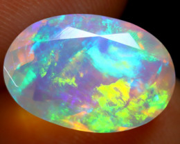 3.17cts Natural Ethiopian Faceted Welo Opal / ABF11