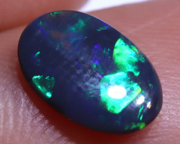 N3   0.54 carats Black Solid Opal Lightning Ridge ANO-3285