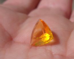 0.80 Ct Contra Luz Faceted Fire Mexican Opal