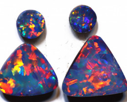 2.78 carats Opal Doublet Stone Pair 4 pieces ANO-3314