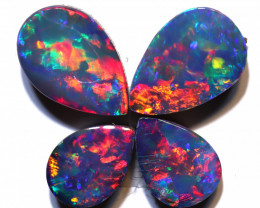 2.42 carats Opal Doublet Stone Pair 4 pieces ANO-3316