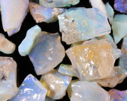 NO RESERVE!! #8  Beginners Andamooka  Rough Opal [38937] 53FROGS