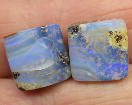 17cts, BOULDER OPAL~GREAT VALUE PAIR.