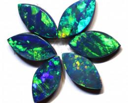 2.17 carats Opal Doublet Stone Parcel 6 pieces ANO-3331