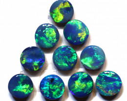 1.33 carats Opal Doublet Stone Parcel 10 pieces ANO-3334
