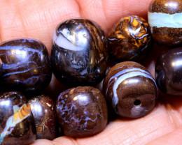 88.90 - CTS BOULDER OPAL BEADS  FOB-2571 fireopalbeads