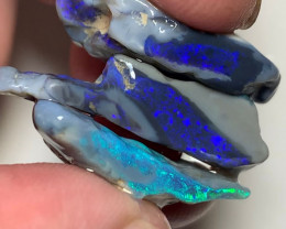 Cutters Select Seam Rough Opals with Stunning Colour Bars