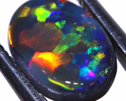 N2 - 2.74CTS QUALITY BLACK OPAL POLISHED STONE INV-1179 INVESTMENTOPLS