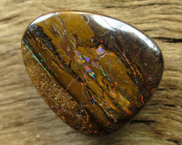 17cts, WOOD OPAL~FOSSIL STONE.