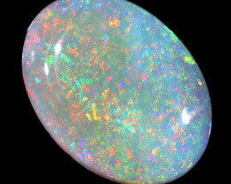 4.16CTS  COOBER PEDY SOLID OPAL GREAT COLOUR PLAY --S1636