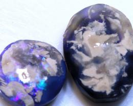 21.80 cts L.Ridge Black opal rough parcel  ADO-A283 adopals