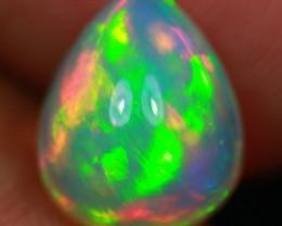 3.07CT 11X9MM RedGreenflash!! Top Quality Natural Ethiopian Opal-GA254