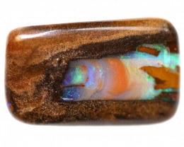 26.7 CTS BOULDER PIPE WOOD FOSSIL POLISHED STONE  [CS1063]