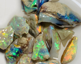 Untouched Multicolour Highly Bright Rough Seam Opals to Cut #716