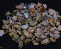 206Grams 1030Ct Multi Color Play Ethiopian Welo Opal Rough  HN55