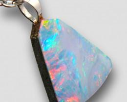 Australian Opal Pendant Sterling Silver Doublet 4.55ct