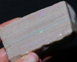 104 grams Andamooka rainbow matrix untreated. [BZ308]