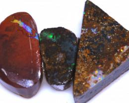 28.30Cts Boulder Opal prefinished Rub Parcel Ado-A493  Adopals