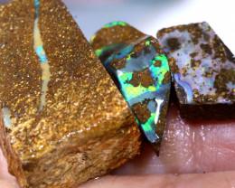31Cts Boulder Opal prefinished Rub Parcel Ado-A500 Adopals